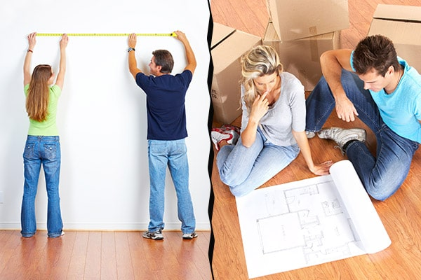 Measure your future home and create a floor plan before moving.