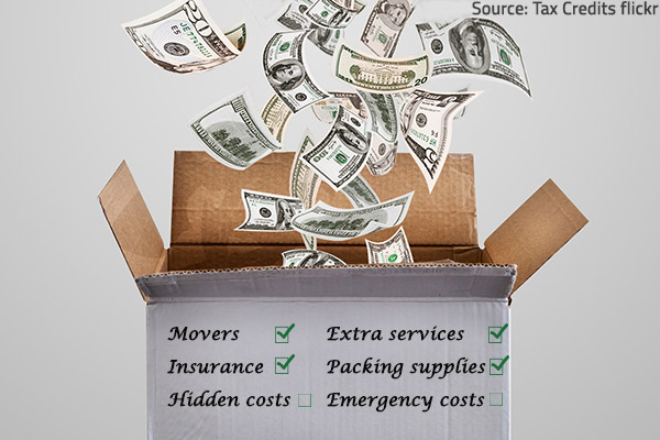 Plan carefully your move on a limited budget.