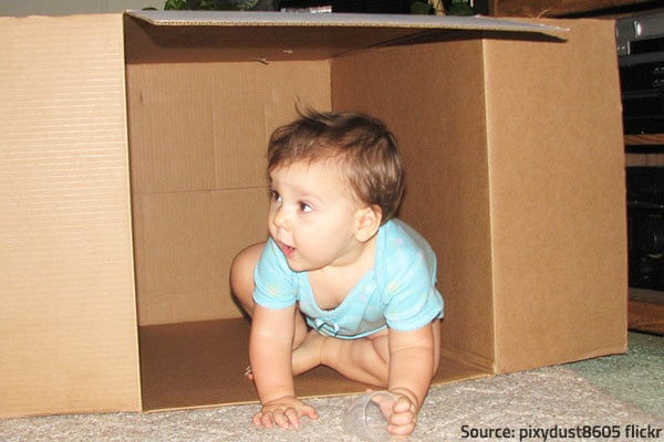 Tips for moving with a baby.