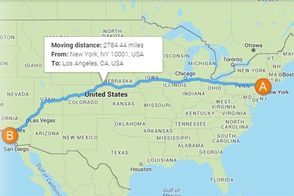 How to move long distance cheap
