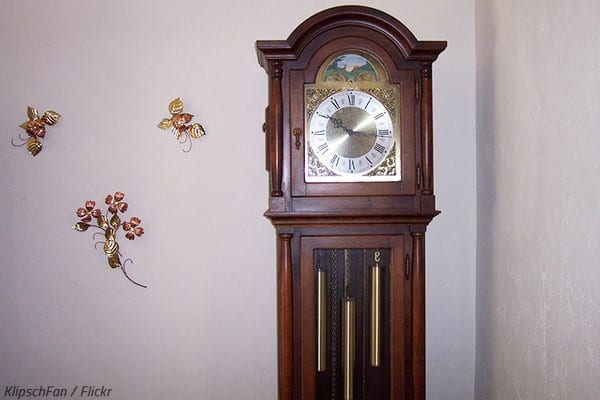 Packing and moving a grandfather clock.