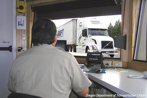 How do moving companies determine weight?