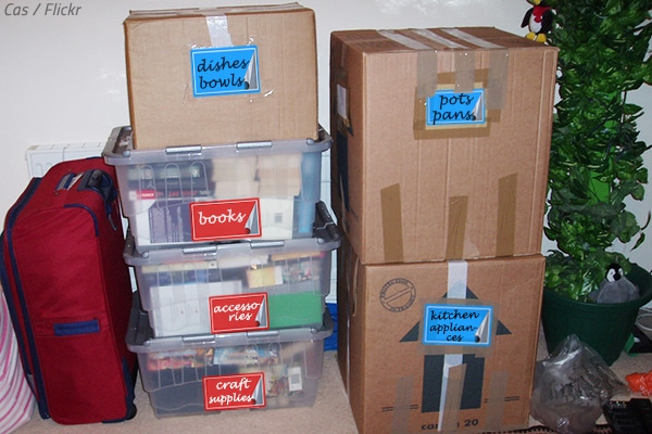 The best way to label storage boxes.