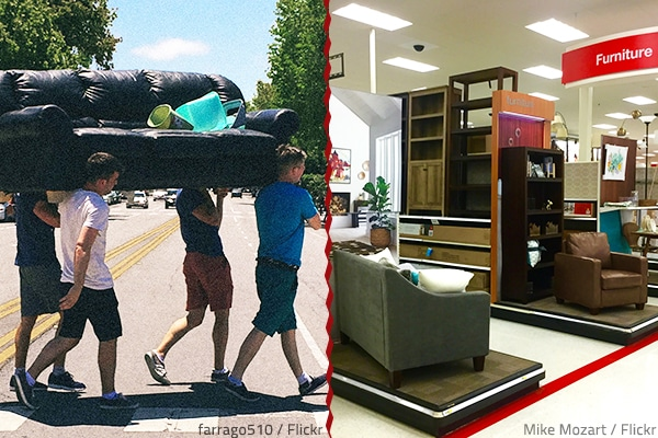 Should you move furniture or buy new when moving house?