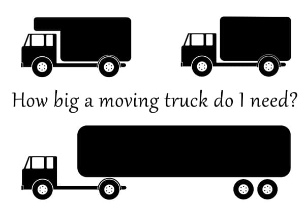 What size moving truck to rent for your move.