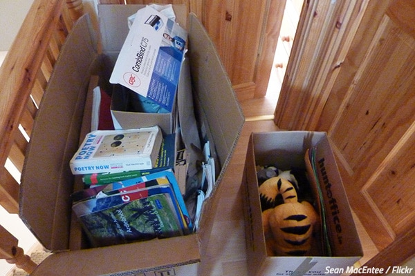What to get rid of when moving