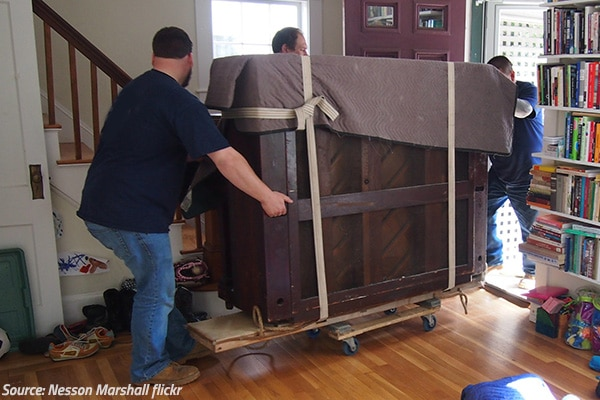 How to move a piano by yourself