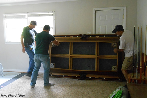 How To Move A Pool Table - Pool table companies near me