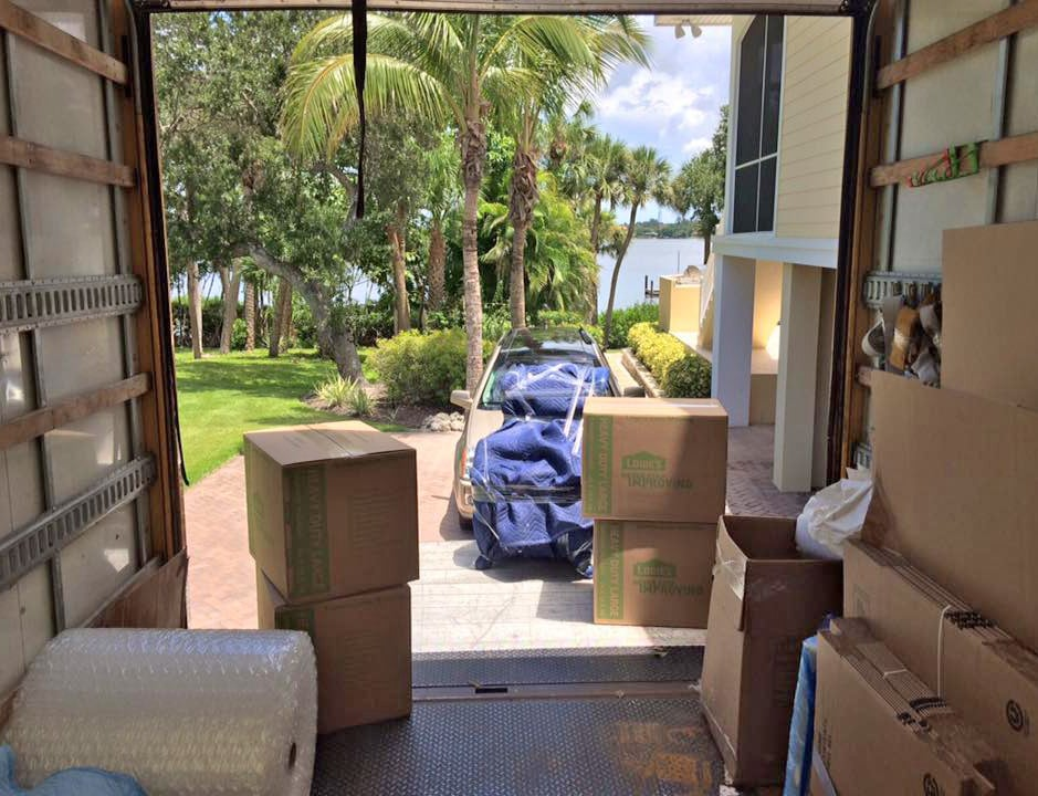 moving truck filled with furniture