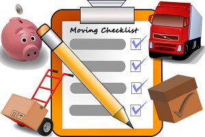 A moving checklist will help you organize your time and keep track of your moving preparations.