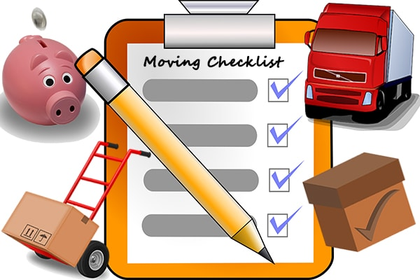 photograph relating to Stay Organized With a Printable Moving Checklist referred to as Transferring timeline: Interactive 7 days through 7 days shifting record